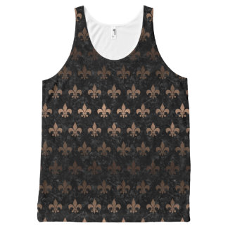 ROYAL1 BLACK MARBLE & BRONZE METAL (R) All-Over PRINT SINGLET