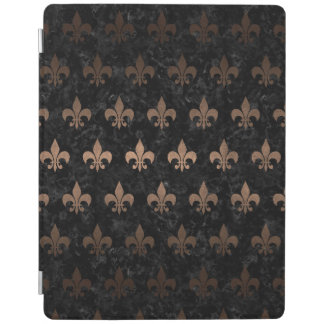 ROYAL1 BLACK MARBLE & BRONZE METAL (R) iPad COVER