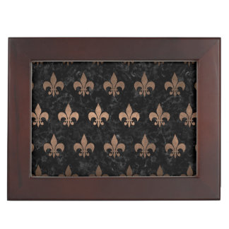 ROYAL1 BLACK MARBLE & BRONZE METAL (R) KEEPSAKE BOX
