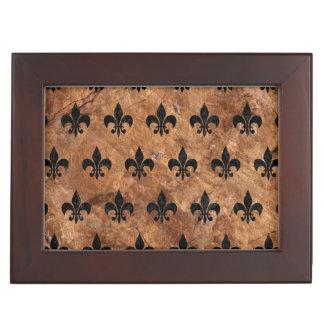ROYAL1 BLACK MARBLE & BROWN STONE KEEPSAKE BOX