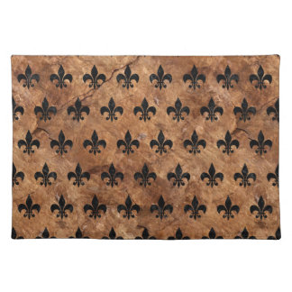 ROYAL1 BLACK MARBLE & BROWN STONE PLACEMAT