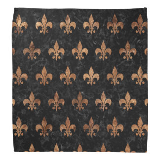 ROYAL1 BLACK MARBLE & BROWN STONE (R) BANDANA