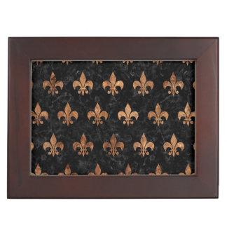 ROYAL1 BLACK MARBLE & BROWN STONE (R) KEEPSAKE BOX