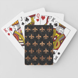 ROYAL1 BLACK MARBLE & BROWN STONE (R) PLAYING CARDS