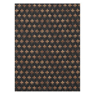 ROYAL1 BLACK MARBLE & BROWN STONE (R) TABLECLOTH