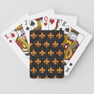 ROYAL1 BLACK MARBLE & ORANGE MARBLE (R) PLAYING CARDS