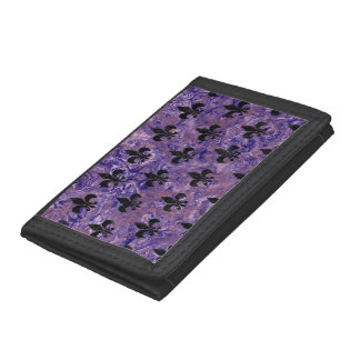 ROYAL1 BLACK MARBLE & PURPLE MARBLE TRI-FOLD WALLETS