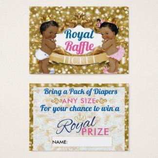 Royal African Gender Reveal Raffle Tickets