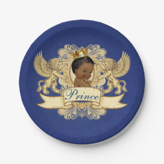 Royal African Prince Elegant Baby Shower Plates