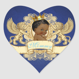 Royal African Prince Fancy Heart Stickers