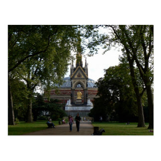 Royal Albert Hall and Prince Albert Memorial Postcard