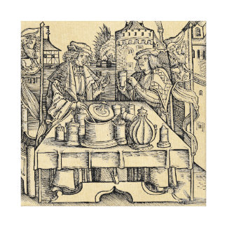 Royal Alchemist in the Castle Canvas Print
