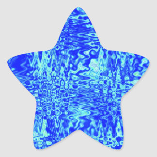 Royal and Light Blue Customizable Star Sticker