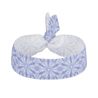 Royal and Mid Blue Winter Snowflake Fractal