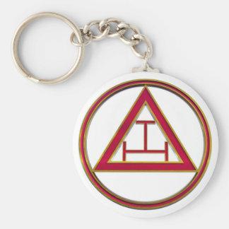 Royal Arch Triple Tau Key Ring
