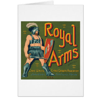 Royal Arms Fruit Crate Label Greeting Card