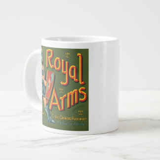 Royal Arms Fruit Crate Label Jumbo Mug
