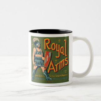 Royal Arms Fruit Crate Label Mug