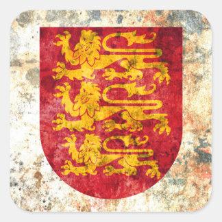 Royal Arms of England Square Sticker