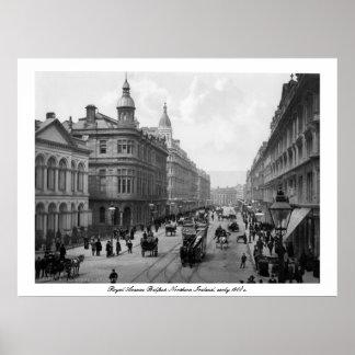 Royal Avenue Belfast, N. Ireland, early 1900s Poster