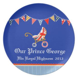 Royal baby add your own name kids plate