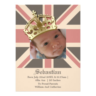 Royal Baby New Baby With Crown Invite