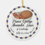 Royal Baby - Prince George Alexander Louis Round Ceramic Decoration