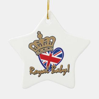 Royal Baby UK Heart Flag Christmas Ornaments
