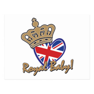 Royal Baby UK Heart Flag Postcard