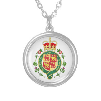 Royal Badge of Wales Silver Plated Necklace