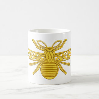 royal bee, imitation of embroidery coffee mug
