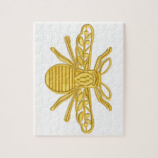 royal bee, imitation of embroidery jigsaw puzzle