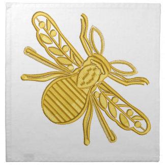 royal bee, imitation of embroidery napkin