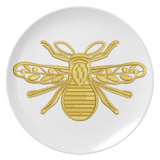 royal bee, imitation of embroidery plate