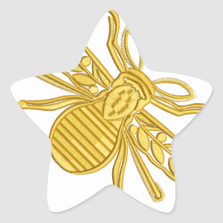 royal bee, imitation of embroidery star sticker
