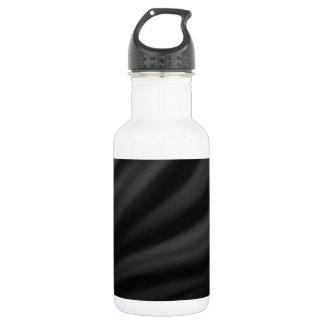 Royal black velvet silk textile elegant chic 532 ml water bottle