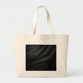 Royal black velvet silk textile elegant chic tote bag