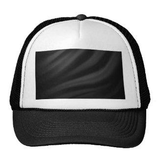 Royal black velvet silk textile elegant chic trucker hats