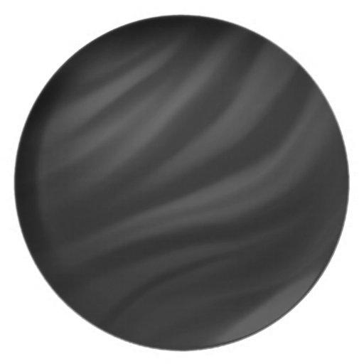Royal black velvet silk textile elegant chic plates