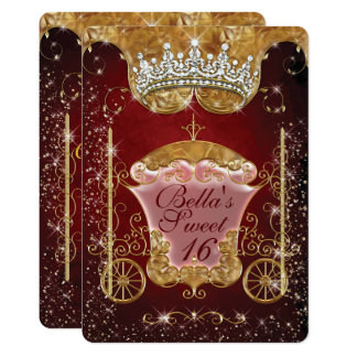 Royal Bling Princess Party Invitations