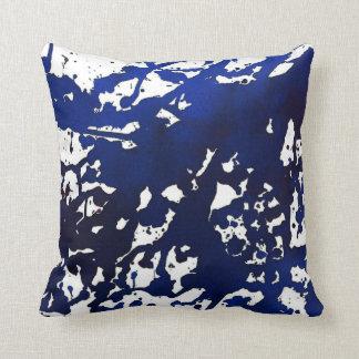 Royal Blue Abstract Watercolor Pillow Cushions
