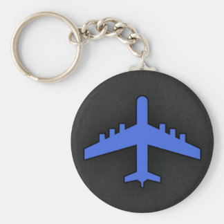 Royal Blue Airplane Keychains