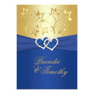 Royal Blue And Gold Wedding Invitations Zazzle Com Au