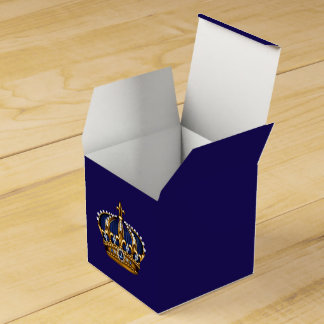 Royal Blue and Gold Prince Crown Favour Box