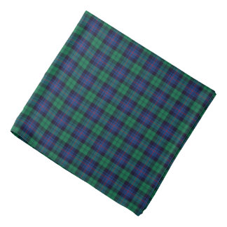 Royal Blue and Green Armstrong Tartan Bandana