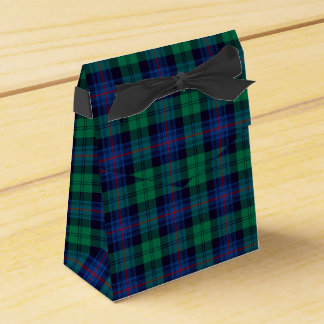 Royal Blue and Green Armstrong Tartan Favour Box