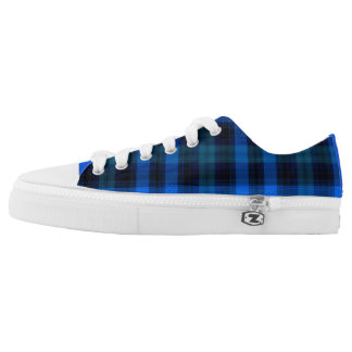 Royal Blue and Navy Low Top Sneakers