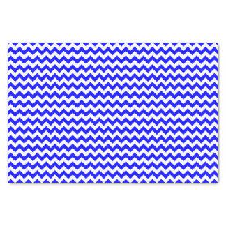 Royal blue and white chevron pattern custom tissue paper