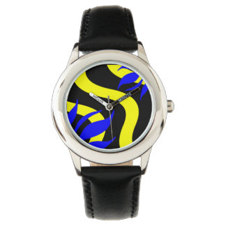 Royal Blue and Yellow Fashion Watch by Julie