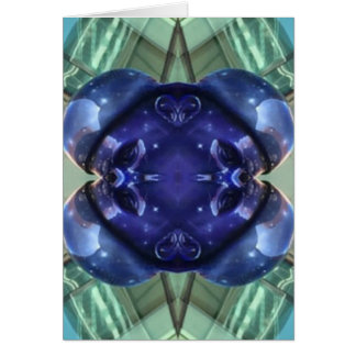 Royal Blue Aquamarine Modern Artistic Abstract Card